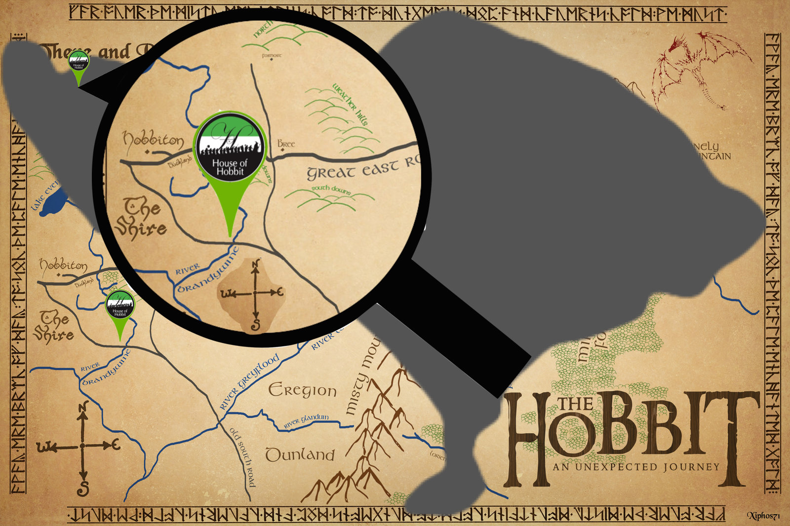 House of Hobbit Map - pin